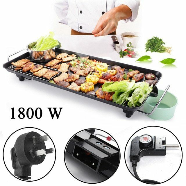Grill électrique Pan BBQ 220 V 1800 W 50 Hz 783012cm Korean Electric Baking Pan