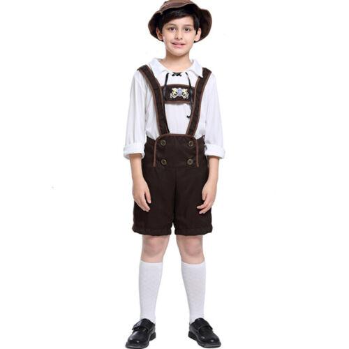 Mens Women Kids Oktoberfest Costume Bavarian Beer Wench Maid Fancy Cosplay Dress
