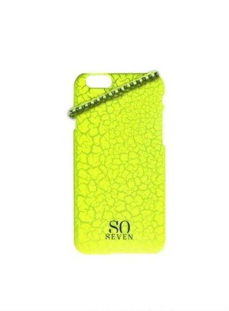 SO SEVEN Fluo Party pour Apple Iphone 5/5s Bracelet Et Coque Jaune NEUF