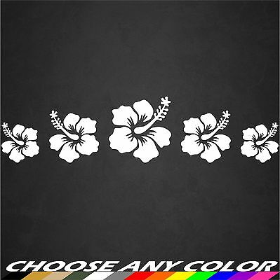 Hibiscus Flower Hawaii Aloha Graphic Decal Sticker Car Vinyl