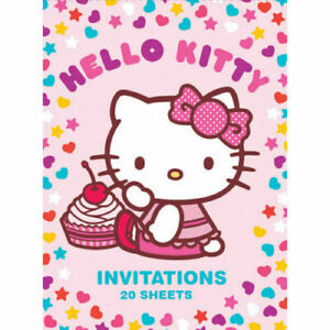 Art Wrap Hello Kitty Party Invitations 20 Sheets - Great for Birthdays and Fun