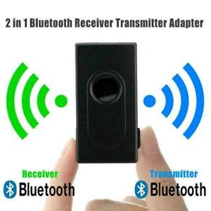 Bluetooth 5.0 Transmitter Receiver 2 IN 1 Wireless 3.5mm Adapter Audio A8Q6 N7H1