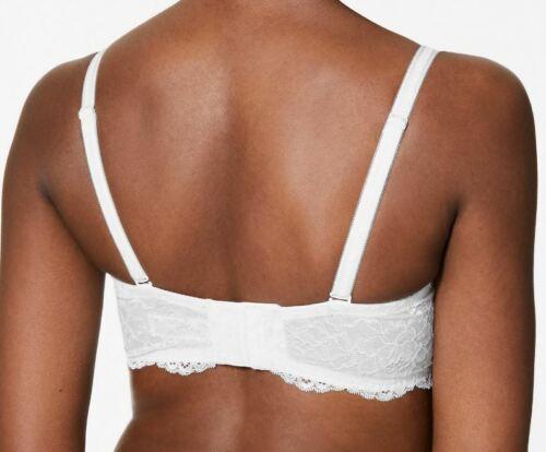 M/&s blanc bonnets de soutien-gorge dentelle rembourré bustier baleiné 5 Ways to Wear 2905
