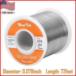 60-40 Tin Lead Rosin Core Solder Wire Soldering Sn60 Pb40 Flux 0.039 inches 1LB