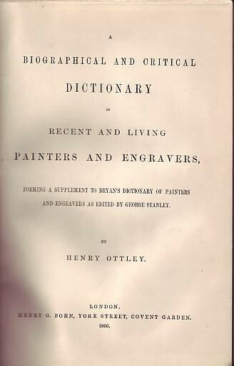 Critical Dictionary of Recent and Living Painters,