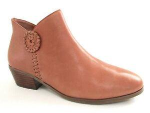 f0a978e3e1c6 Jack Rogers Womens Peyton Ankle Boots Size 5.5M Leather Oak Brown ...
