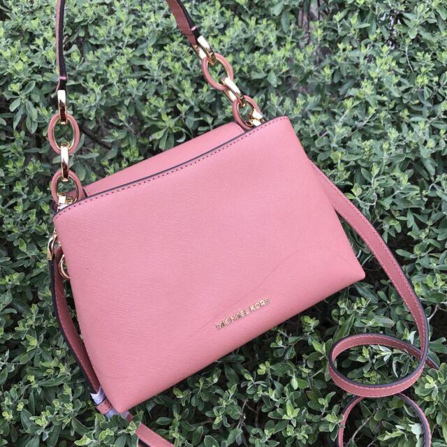 c071e7712cee Michael Kors Portia Small Saffiano Leather Shoulder Bag   Antique Rose