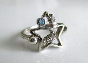 GüNstiger Verkauf Schmuck Für Mädchen Sternchen Silberring Mit Swarovski Steinen