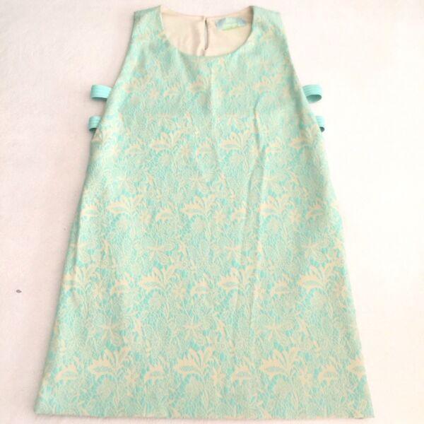 $198 JuJu S'amuse Mint Green & Ivory Shift Dress Sleeveless Cut-Out EUC Size M/L