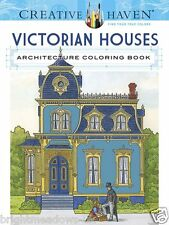 Victorian Houses Adult Colouring Book Architecture Gothic 1 sided Calm