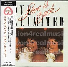 Love Unlimited LOVE IS BACK 1995 Unlimited Gold JAPAN DELUXE MLPS CD OOP RARE