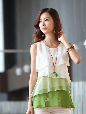 Fashion Women Chiffon Sleeveless Summer Loose Casual Shirt Tank Tops Vest Blouse