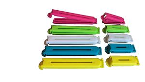 10x gefrierclips Coloré Fermeture Borne sachet Borne Sachet Fermeture Tubes