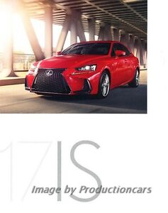2017 Lexus IS IS350 IS300 46-page Car Sales Brochure Catalog