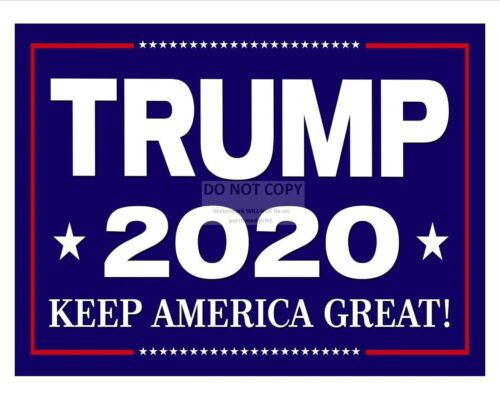 8X10 PHOTO SP300 DONALD TRUMP 2020 PRESIDENTIAL CAMPAIGN PHOTO SIGN