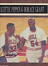 """SCOTTIE PIPPEN & Horace Grant """"Chicago Bulls Greats"""" AUTOGRAPHED Framed Photo"""