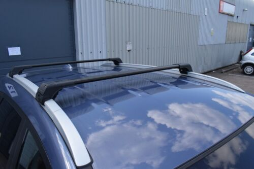 BMW X1 F48 onwards 2014 ANTI THEFT ALUMINIUM CROSS BAR RACK 75 KG LOADING BLACK