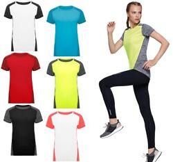 Damen Sport T-Shirt Funktionsshirt Funktions Shirt Sport Fitness Running