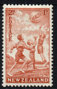 New-Zealand-2d-1d-Health-Stamp-c1940-Mounted-Mint-Hinged-3478