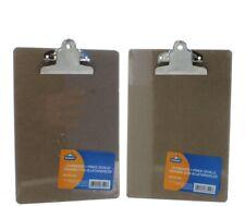 Lot Of 2 Mini Clipboards 6 X 8 34 Hardboard Small Memo Invoice Kamset