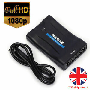 Details about 1080P HDMI To SCART Upscaler Video Converter Adapter w/ Cable  for DVD SKY Box TV