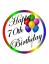 70th Joyeux Anniversaire 7.5 Premium comestible glaçage cake topper peut personnalisé D1