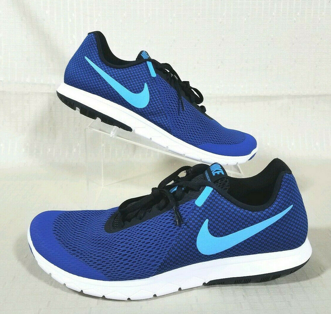 check out fe2c5 26602 Nike Flex Experience RN 6 Running shoes shoes shoes Mens Size 12 bluee Black  White 881802