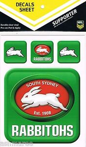 NRL-South-Sydney-Rabbitohs-UV-Outdoor-Car-Tattoo-Sticker-Sheet-Decal-iTag