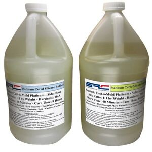 Details about Platinum RTV Silicone Rubber For Mold Making: 1:1 Mix Ratio  Food Grade 2 Gallons