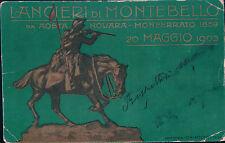 CARTOLINA REGGIMENTALE LANCIERI DI MONTEBELLO AOSTA NOVARA MONFERRATO 1903 C4-39