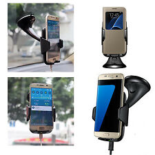 360° Qi Wireless in Car Charger Transmitter Holder For Samsung Galaxy Phone