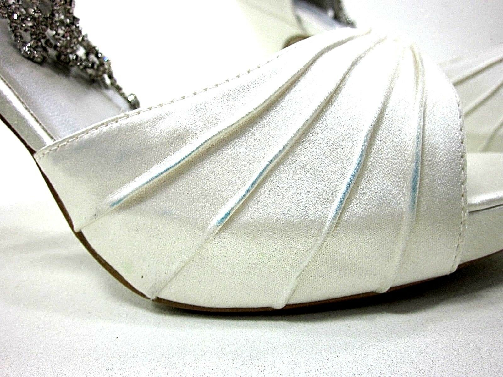 LIZ RENE COUTURE, GUADALUPE PLATFORM SANDAL, Donna, WHITE SILK,10.5M,NEW/DEFECT SILK,10.5M,NEW/DEFECT WHITE db9b5c