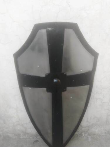 Shield Hand Forged Gothic Layered Steel Cross Shield Medieval Battle Armor