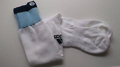 Einfach Adidas S04 Schalke - Fussball Socken Stutzen Weiß 31-33