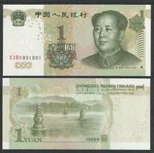 CHINA  1 YUAN 1999   P 895 b  LOT 5 PCS consecutive  Uncirculated Banknotes