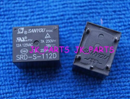 10pcs ORIGINAL Sanyou SRD-S-112D Mini Power Relay 12V DC