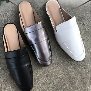 8bd47c8f4c7 Women Black Horsebit Close toe Sandal Slip On Loafer Mules Flat ...