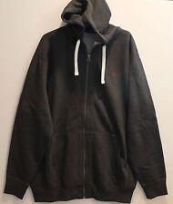 Polo Ralph Lauren Big and Tall Mens Charcoal Gray Zip Hoodie Sweat Jacket NWT LT