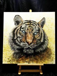 Peinture, tableau surréaliste, huile sur toile format 60/60 cm année 2021
