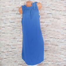 MADE IN ITALY Langes Kleid Viskose Maxikleid mit Rüschen weiß 36 38 40 42