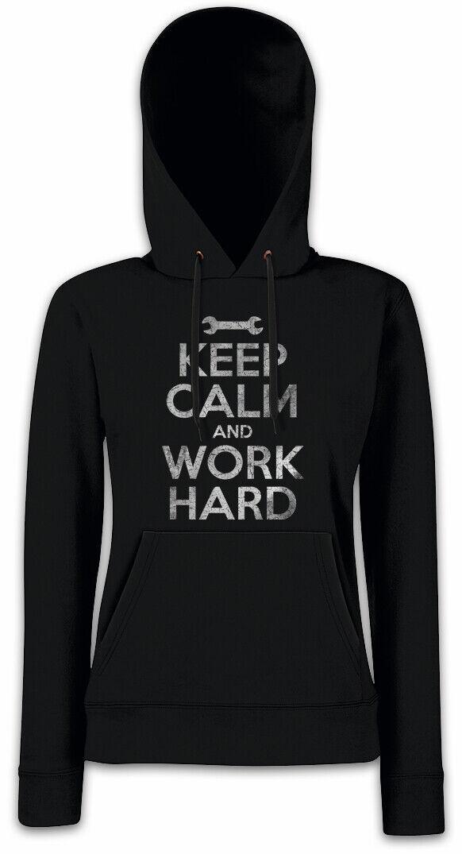 Keep Calm And Work Hard Damen Hoodie Kapuzenpullover Handwerker Mechaniker Mechaniker Mechaniker   | Zu verkaufen  b9b219