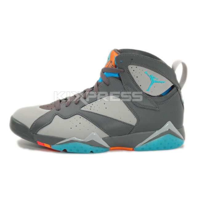 Nike Air Jordan 7 Retro  304775-016  Basketball Barcelona Days  Grey Turquoise ad1e30be9
