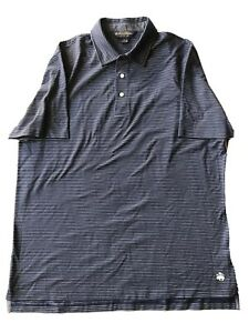 Brooks-Brothers-Men-s-Shirt-Polo-Blue-W-Stripes-Cotton-Original-Fit-XL