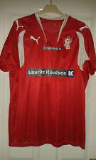 Mens Handball Shirt - DHF - Denmark - Puma - Red With White - Size L
