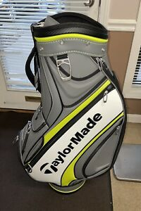 New TaylorMade TM17 Tour Grey/White/Green Cart Bag w/ Rain Cover & New Tags