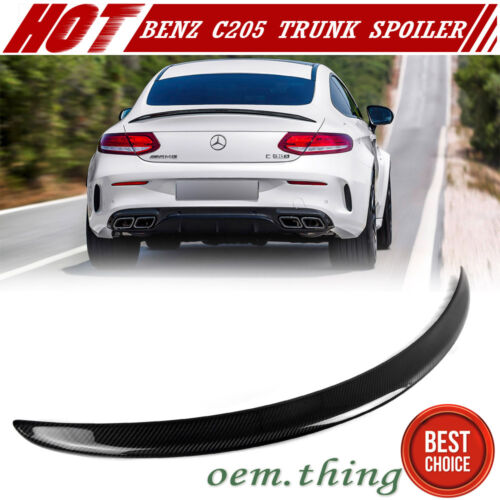 Carbon For Mercedes BENZ C-Class C205 Coupe A Type Trunk Spoiler C63 C180
