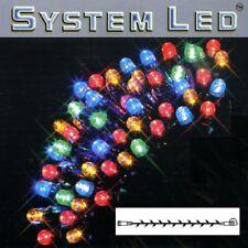 System LED Lichterkette Extra 5m 50er cool light Kabel schwarz 465-08