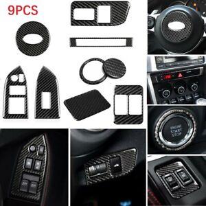 Black Carbon Fiber Center Console Frame Cover For Subaru BRZ Toyota 86 2013-2017