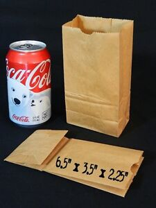 Image Is Loading 25 Small Mini Brown Paper Bags Kraft Craft