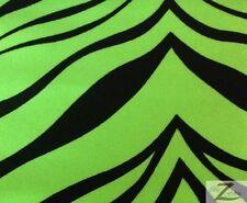 "ZEBRA PRINT NYLON SPANDEX FABRIC- NEON LIME- SOLD BTY 58"" STRETCH/SPRING"